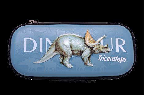 Пенал твердый 1 отделение на молнии Triceratops, Zibi