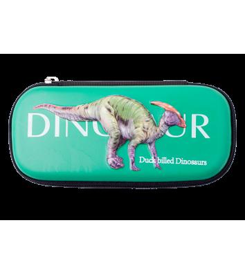Пенал твердий 1 відділення на блискавці Duckbilled Dinosaurs, Zibi