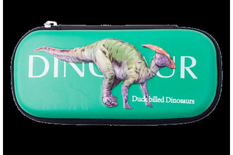 Пенал твердый 1 отделение на молнии Duckbilled Dinosaurs, Zibi