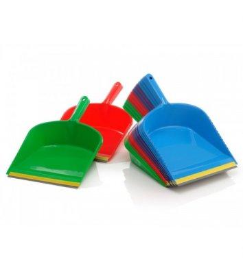 Совок для сміття пластиковий з гумовою насадкою асорті, Юнипласт