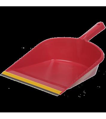 Совок для мусора пластиковый с резиновой насадкой ассорти, Buroclean