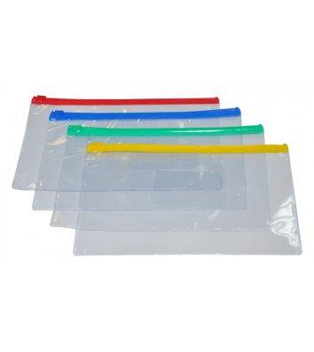 Папка-конверт А4 на блискавці пластикова синя, Buromax