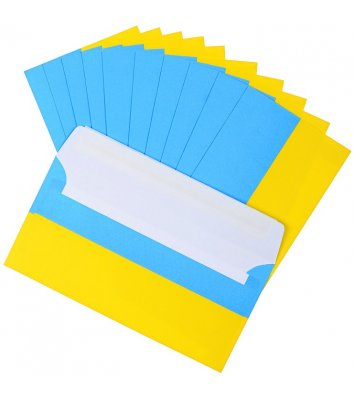 Конверт DL желто-голубой 1шт