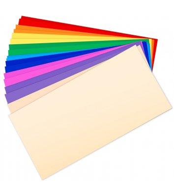 Конверт DL 25шт цветные ассорти