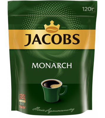 Кофе растворимый Jacobs Monarch 120г, эконом пакет