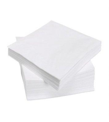 Серветки паперові  одношарові 100шт 24*24см білі, BuroClean