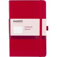 Деловой блокнот А5 96л клетка Partner красный, Axent
