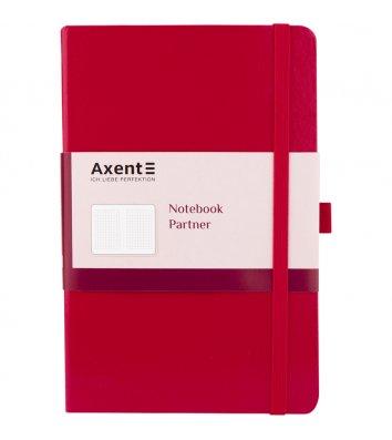 Діловий записник А5 96арк клітинка Partner червоний, Axent