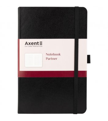 Діловий записник А5 96арк клітинка Partner чорний, Axent