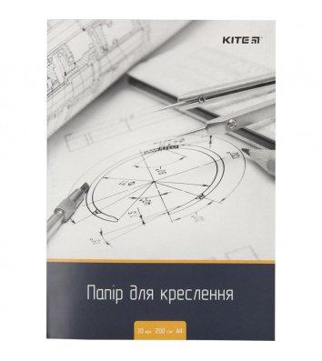 Папір для креслення  А4 10аркушів, 200г/м2, Kite