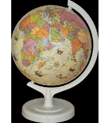 Глобус d32см Политический под старину, с подсветкой