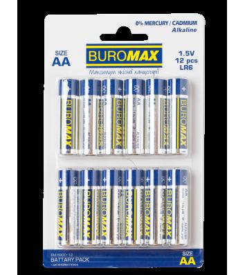 Батарейка LR06/ААА 1.5V 12шт, Buromax