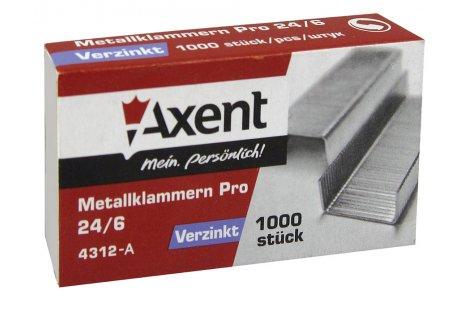 Скоби для степлера №24/6 1000шт, Axent