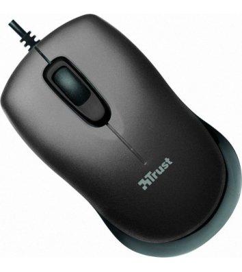 Миша комп'ютерна провідна чорна, Trust Evano Compact Mouse USB