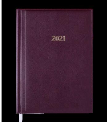 Ежедневник датированный A5 2021 Base (Miradur) бордовый, Buromax