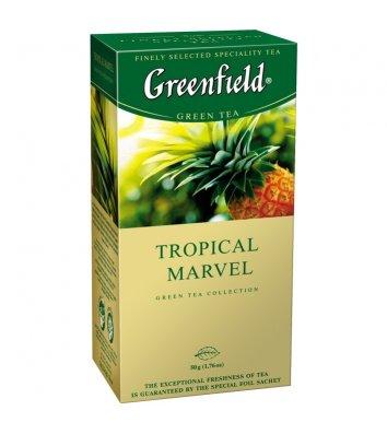 "Чай зелений Greenfield ""Tropical Marvel"" в пакетиках 25шт"
