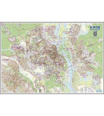 Карта План м.Києва М1:21 000, 160*110см, картон