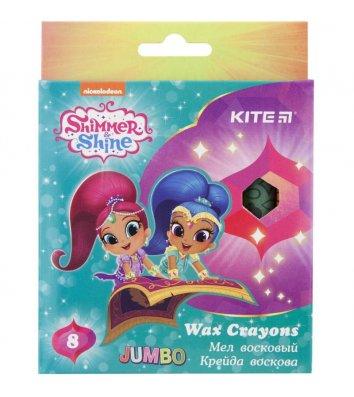 "Крейда воскова кольорова 8шт Jumbo ""Shimmer and Shine"", Kite"