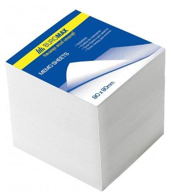 Бумага для заметок 80*80мм 500л белая непроклеенная, Buromax
