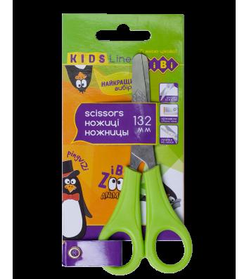 Ножиці дитячі 13,2см ручки пластикові салатові, Zibi