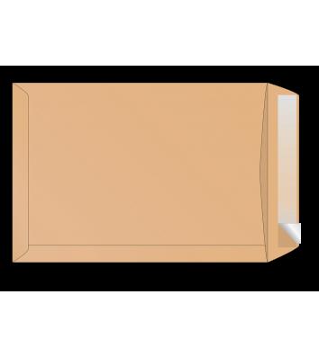 Конверт С4 1шт крафт с отрывной лентой боковой клапан