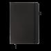 Діловий записник клітинка А5 Brief чорний, Buromax