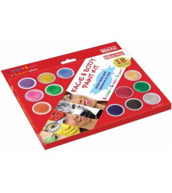 Краски для лица 18 цветов, Maxi