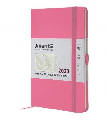 Щотижневик датований 2022 Pocket Strong 90*150мм світло-рожевий, Axent