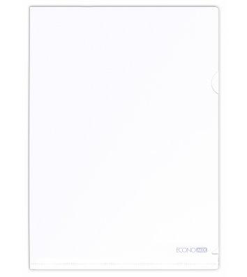 Папка-уголок А4 пластиковая белая, Economix