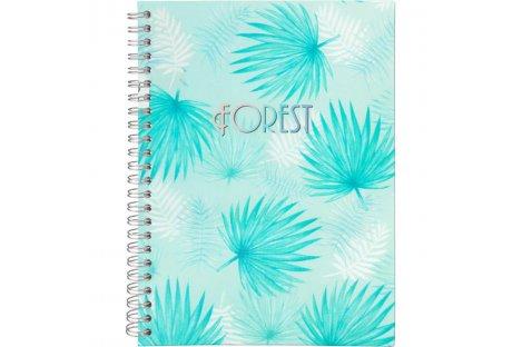 Блокнот А5 80арк клітинка Forest, бічна спіраль, Axent