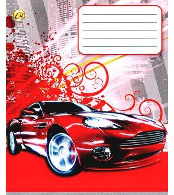Тетрадь 36 листов линия, обложка Транспорт/Спорт в ассортименте