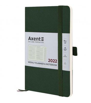 Щотижневик датований 2022 Partner Soft Skin 125*195мм темно-зелений, Axent