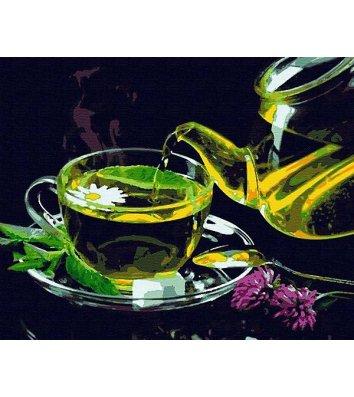 """Картина по номерам """"Зеленый чай"""" 40*50см, Riverа Blanca"""