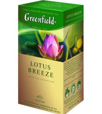 """Чай зелений Greenfield """"Lotus Breeze"""" в пакетиках 25шт"""
