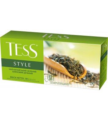Чай зелений Тess Style в пакетиках 25шт