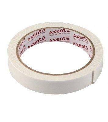 Стрічка двостороння клейка 18мм*2м  на вспіненій основі, Axent