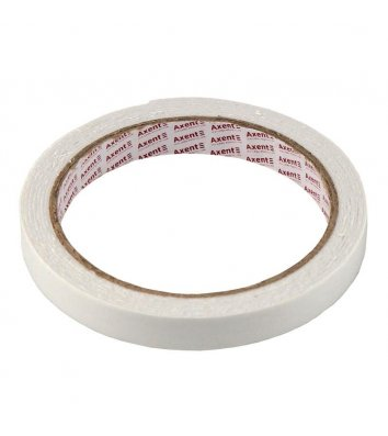 Стрічка двостороння клейка 12мм*2м на вспіненій основі, Axent