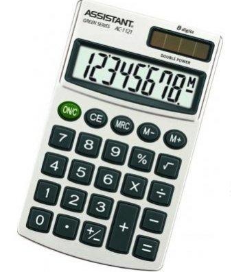Калькулятор  8 розрядів кишеньковий 116*69*10мм, Assistant