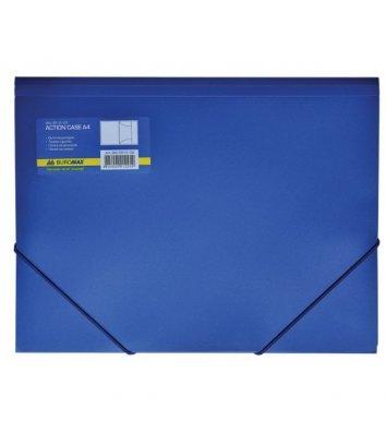 Папка А4 пластиковая на резинках синяя, Buromax