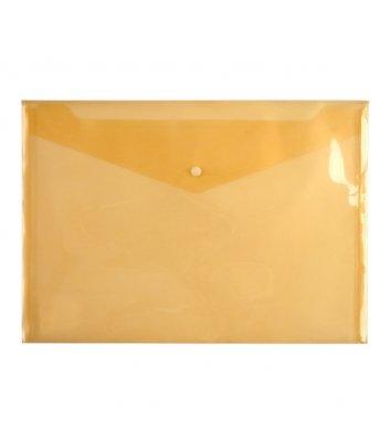 Папка-конверт А4 на кнопке пластиковая оранжевая, Axent
