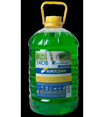 Засіб для миття скла Buroclean 5л зелене яблуко