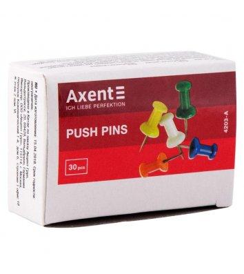 Кнопки - цвяшки кольорові 30шт, Axent