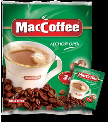 Напиток кофейный MacCoffee Лесной орех 3в1 в стиках 20г