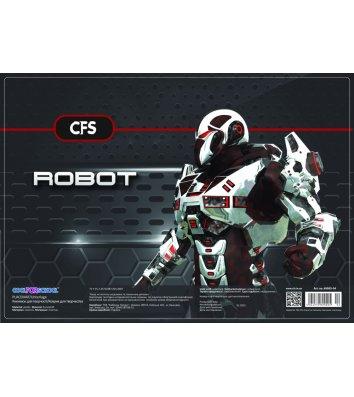 """Коврик для детского творчества А3 пластиковый """"Robot"""", Cool for School"""