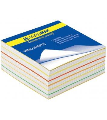 Папір для нотаток 90*90мм 400арк, кольоровий проклеєний, Buromax