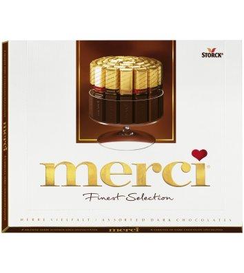 Цукерки Merci чорний шоколад 250г, Storck