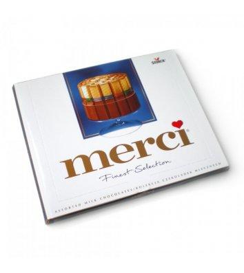 Цукерки Merci молочний шоколад 250г, Storck