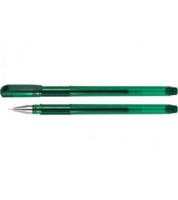 Ручка гелевая Turbo, цвет чернил зеленый 0,5мм, Economix