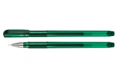 Ручка гелева Turbo, колір чорнил зелений 0,5мм, Economix