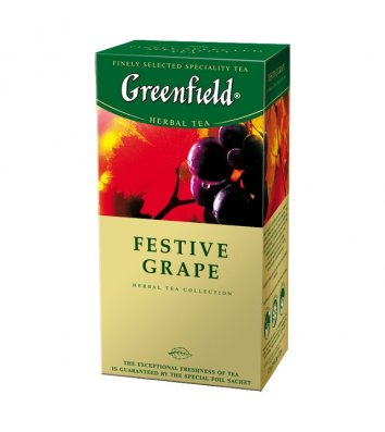 "Чай травяний Greenfield ""Festive grape"" в пакетиках 25шт"
